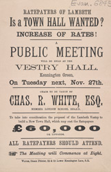 Advert For A Meeting Of All Lambeth Ratepayers